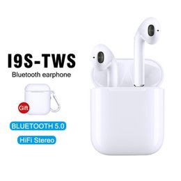 Yeni i9S TWS Mini Bluetooth Kulaklık Kablosuz Kulaklık Kulaklık Bluetooth 5.0 Telefon Andorid için Mic ile Stereo Spor Kulakiçi indirimde
