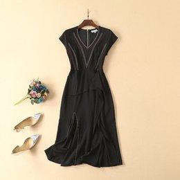 3d4b4dfe06 310 2019 Summer Runway Dress A Line Mid Calf V Neck Short Sleeve Print  Empire Brand Same Style Runway Dress AS