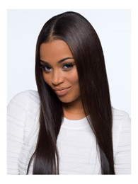 Hair Manufacturers Australia - China manufacturer wholesale cheap 100 virgin black women straight indian REMY human hair lace front wig