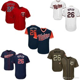 navy blue baseball jerseys UK - Men Womens Youth Twins Jerseys 26 Kepler Baseball jerseys White Red Blue Navy Green Salute to Service Players Weekend All-Star