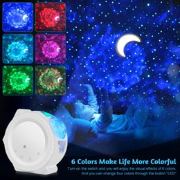 LED Night Light Starry Star Projector Sky Projectors Lights USB nebula Ocean Lamp Waving Lighting Christmas Gift for Baby