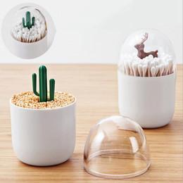 $enCountryForm.capitalKeyWord Australia - Creative Animal Tree Toothpicks Holder Home Table Decoration Plastic animal paradise Storage Box Organizer Cotton swab box