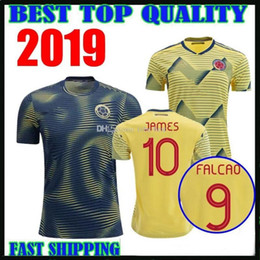 colombia jerseys Australia - 19 20 Colombia JAMES FALCAO VALDERRAMA Soccer Jersey Home away 2019 2020 man woman kids kit Football sports Short Shirt