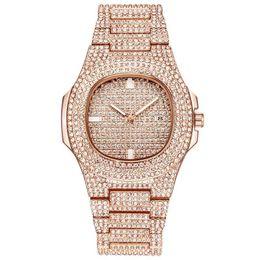 $enCountryForm.capitalKeyWord UK - New Luxury Women Watch Diamonds Quartz Lady Stainless Steel Watches Rhinestone Rose Gold Wristwatches Clock Gifts Relogio Feminino