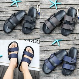 Brown Beach Sandals Australia - free shipping designer sandals Brand Slippers Blue black Brown Shoes Man Casual Shoes Slippers Outdoor Beach Slippers EVA light Sandals