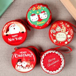 Kids case holder online shopping - New PC Hot Merry Christmas Cute Purse Case Red Santa Clause Candy Box Kids Gift Pouch Keys USB Holders