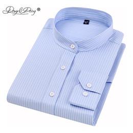 $enCountryForm.capitalKeyWord NZ - DAVYDAISY High Quality 2019 New Arrival Men Shirt Stand Long Sleeve Twill Solid Dress Business Shirt Man Causal Shirts DS296