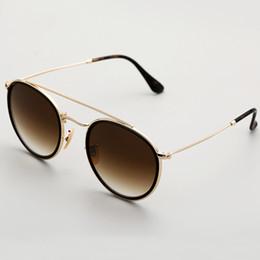 Red lense glasses online shopping - New Steampunk sunglasses women men metal frame double Bridge uv400 lense Retro Vintage sun glasses Goggle glass lens with box