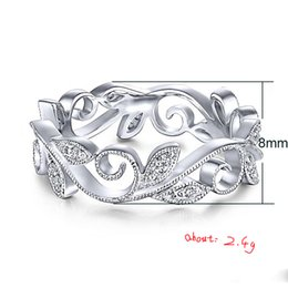 Wholesale New Pattern Originality Cane Leaf Zircon Ring Fashion OL Party Party Accessories