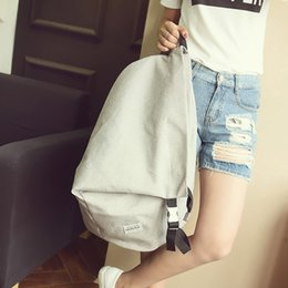 Large Backpacks For Men NZ - 2019 New Creative Personality Boys Canvas Solid Bookbag Concise Casual Large Space Travel Backpack For Men