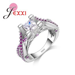 Discount romantic tops for women - Jemmin Brand New Jewerly Romantic Women Wedding Engagement Rings Fashion 925 Sterling Silver Party Ring For Lady Top Qua