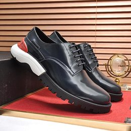 fast flats NZ - Fast Delivery Derby Shoes Men's Shoes Drop Ship Zapatos de hombre Dress For Male Wedding Formal Flats Round Toe Lacing Office Work Shoes