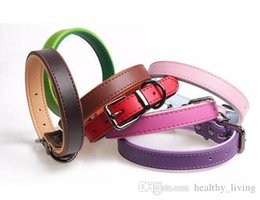 China PU Leather Double Layer Pet Dog Collar For Puppy Cat Chihuahua Small Dog Soft Neck Strap Adjustable Size Pet Accessories DHL Free 222 cheap dog cat collar dhl suppliers
