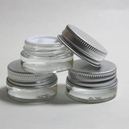 $enCountryForm.capitalKeyWord NZ - 5g clear glass cream jar with silver aluminum lid, 5 gram cosmetic jar,packing for sample eye cream,5g mini glass bottle