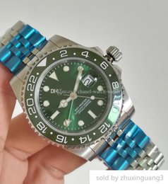 $enCountryForm.capitalKeyWord Australia - Topselling Luxury Gmt Basel World 40mm Green Dial And Ceramic Bezel 126710 126710blro Asia Movement Automatic Mens Watch Watches 2019