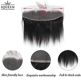 $enCountryForm.capitalKeyWord NZ - IQUEEN Lace Frontal Straight 13x4 Preplucked Frontal Lace Closure Free Part with Baby Hair Bleached Knots VirginHair Natural Color 8-20 inc