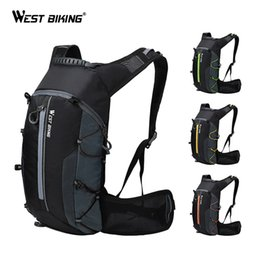 Foldable Cycles Australia - WEST BIKING Bike Bag Waterproof Outdoor Sports 10L Portable Foldable Cycling Water Bag Backpack Hiking Climbing Bicycle Backpack