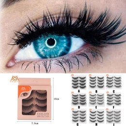 $enCountryForm.capitalKeyWord Australia - 4 Pairs 3D False Lashes Fluffy Long Natural Party Natural Style Waterproof Wispy Eye Lash Extension False Eyelash Extension +