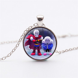 video game glasses 2020 - Hot Video Game Undertale Necklace For Men Handmade Sans Glass Dome pendant jewelry cheap video game glasses