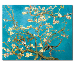 $enCountryForm.capitalKeyWord Australia - Blossoming Almond Tree By Van Gogh Flower Replica Handpainted Abstract Art Oil Painting On Canvas Wall Art Home Office Deco High Quality l59