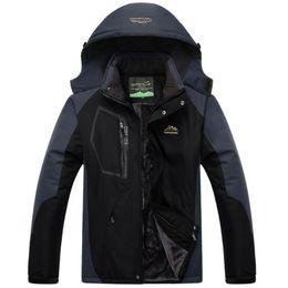 Thick Winter Parka Australia - Winter Military Jackets Men Windbreaker Waterproof Jacket Thick Velvet Warm Parka Brand Clothing Plus Size 4xl 5xl Mens Coats