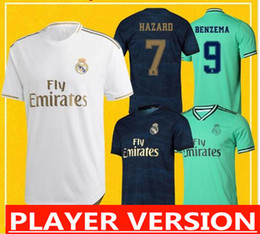 soccer jersey real madrid away Australia - Free Shipping Player Version Real Madrid Maillots 2020 Home Away Third Soccer Jersey camisetas de madrid real 19 20 HAZARD JOVIC RAMOS
