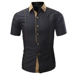$enCountryForm.capitalKeyWord Canada - Brand 2019 Summer Hot Sale Fashion Male Shirt Short-sleeves Tops Solid Color Mens Dress Shirts Slim Men Shirt Plus Size 4xl