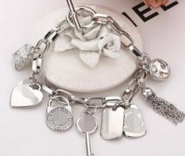 $enCountryForm.capitalKeyWord NZ - Classic Jewelry Brand Bracelet Womens Charm Bracelets Couple Jewelry bangle tassel gold rose silver