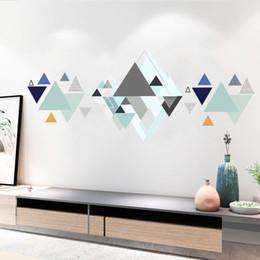 $enCountryForm.capitalKeyWord Australia - Creative Geometric Pattern Wall Stickes Home Decor Wall Mural Poster Art Living Room Bedroom Classroom Background Wall Decals Self-adhesive