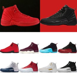 Wholesale CNY Gym red Winterized WNTR s Mens Basketball Shoes XII Taxi Bulls OV White Black Nylon French Blue The master boys sports sneakers
