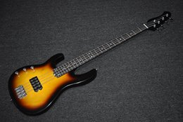 $enCountryForm.capitalKeyWord NZ - Factory Custom Left Handed Tobacco Sunburst Electric Bass Guitar with 4 Strings,Chrome Hardware,High Quality,Can be Customized