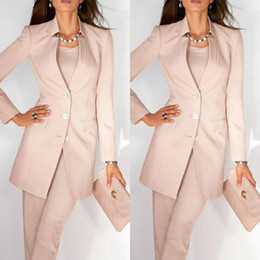 $enCountryForm.capitalKeyWord NZ - Pink Women Ladies Mother of the Bride Dresses Office Tuxedos Fashion Work Pant Suits Wedding Evening Party Formal Gown With Jacket