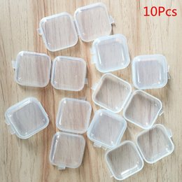 bead organizer container Australia - 10 Pieces Mini Plastic Small Box Jewelry Earplugs Storage Box Container Beads Makeup Transparent Decorative Tool