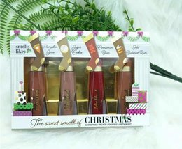 $enCountryForm.capitalKeyWord Australia - Dropshipping 2018 Christmas Gift New Makeup The Sweet Smell Of Christmas Treats Liquified Lipstick Set 4 colors Melted Matte Lipgloss Kit