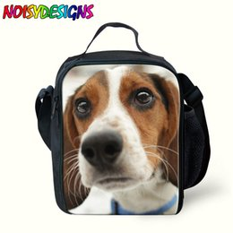Kids Dog Australia - Newest Beagle Dog Lunch Box For Kids Grils Boy Animals Dog Pattern Zipper Shoulder Crossbody Bag Insulated Cold Picnic Bag