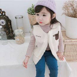 $enCountryForm.capitalKeyWord Australia - 2019 Autumn New Arrival korean version cotton Embroidery old fashion thickened cartoon pattern Vest for fashion cute baby girls