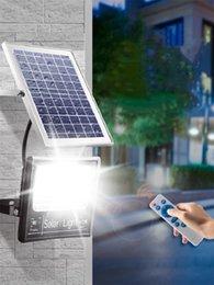 $enCountryForm.capitalKeyWord Australia - LED Solar Powered Lights Remote Waterproof Wall Lamp Sensor Display LED Floodlight Outdoor Street Garden Yard Path Security Lamp