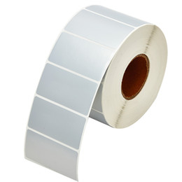 Roll labels pRices online shopping - matte silver PET blank package adhesive label sticker in roll market price tag barcode printing label sticker components warning sticker