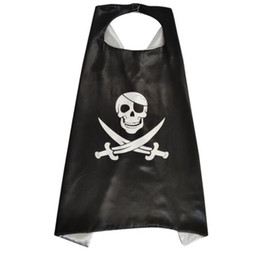 wholesale pirate dresses NZ - child pirate cape cloak hero themed presents halloween boys pirate cosplay cloaks dress up kids knight party pirtates capes costume