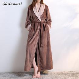 b8a314faff sexy couple sleepwear 2019 - Women Women Flannel Bath Robe Sleepwear 2018  Autumn Winter Solid Plush
