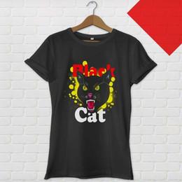 5092cedc80b0 Black Cat Fireworks Retro Black T-shirt