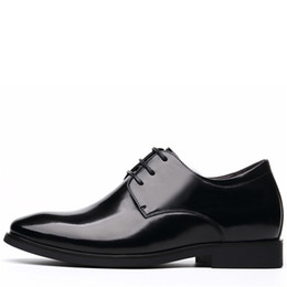 fe9e01d5becd Luxury Brand Classic Height Increasing 6CM Man Pointed Toe Dress Shoes Mens  Genuine Leather Wedding Shoes Oxford Formal Shoes Men