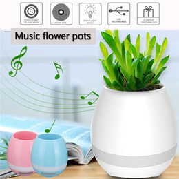 Bluetooth Toys Australia - CKC 1pc Music Vase Smart Wireless Bluetooth Music Speaker Potted Plants Toys Touch Plant Flower Pots Creative instrument Decor Sing Songs