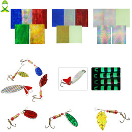 HolograpHic lure online shopping - Fishing Lures JSM Laser Holographic colorful d stickers lure For Metal Hard Baits Sticker buzzbait and spninner tackle