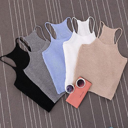 e4719c2332b46 Casual Fashion Summer Women Ladies Sleeveless O-Neck Pullover Short Length  Solid Skinny Tank Tops 6 Style Outfit Summer
