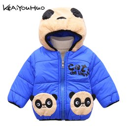 $enCountryForm.capitalKeyWord Australia - KEAIYOUHUO Winter Kids Girls Cute Panda Pattern Coat Baby Boys Jacket Warm Cotton Hooded Outerwear For Girls Children Clothes