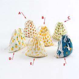 $enCountryForm.capitalKeyWord Australia - 3 Sizes Bedding Drawstring Gift Bag Girl Cartoon Printing Small Backpack Travel Storage Bags Strings Package Wholesale
