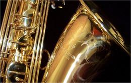 Venta al por mayor de YANAGISAWA T-902 Bb Saxofón Profesional Latón Dorado Laca B Instrumentos Musicales Planos Saxo con Estuche Boquilla
