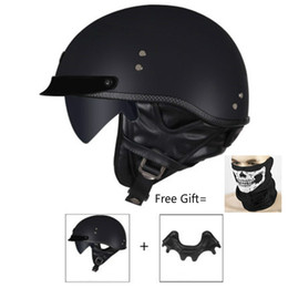 vintage motorcycle helmet xxl Canada - HOT sale Open Face Half PU Leather Helmet Moto Motorcycle Helmets vintage Motorbike Headgear Casque Casco For helmet