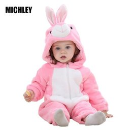 Stitch Jumpsuits NZ - Michley Clothes Infant Romper Boys Girls Jumpsuit New Born Bebe Clothing Hooded Toddler Cute Stitch Baby Costumes J190524